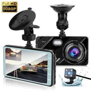 "TSV 1080P Dual Dash Cam, 4"" Front and Rear Car Camera, 170 Degree Wide Angle Dual Dash Camera, Car Driving Recorder w/ Super Night Version, Parking Monitor, Loop Recording, G-Sensor, Motion Detection"