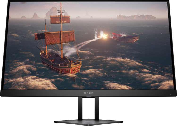 "HP OMEN - OMEN 27"" IPS LED QHD FreeSync & G-Sync Compatible Gaming Monitor (DisplayPort, HDMI, USB) - Shadow Black"