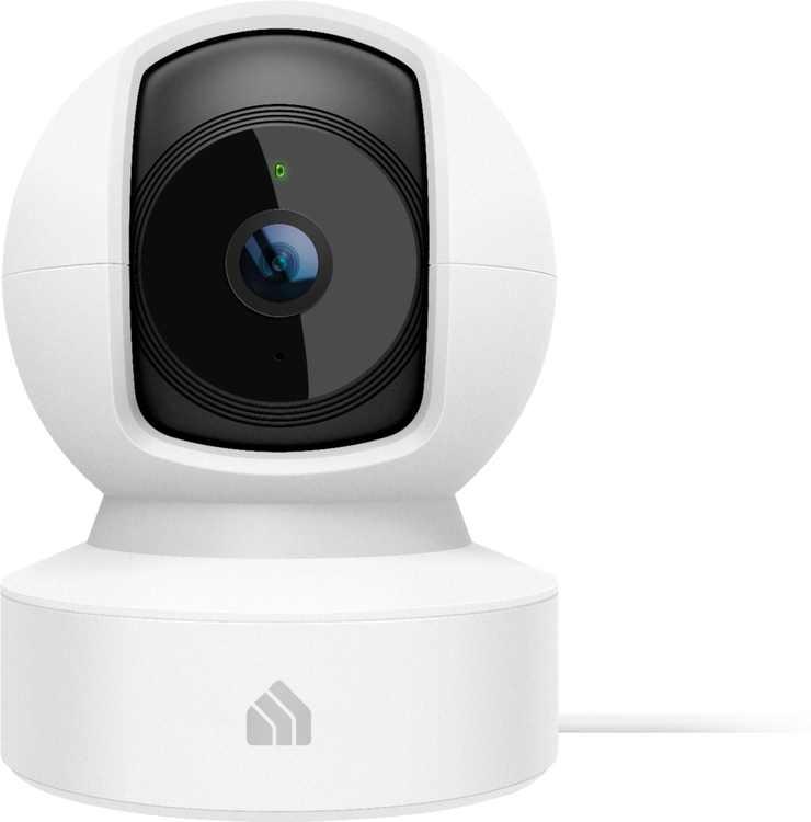 TP-Link - Kasa Spot Pan and Tilt Indoor 1080p Wi-Fi Wireless Network Surveillance Camera - Black/White