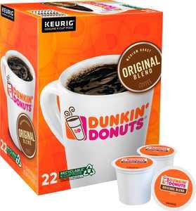 Dunkin' Donuts Original Blend Coffee, Keurig Single-Serve K-Cup Pods, Medium Roast, 22 Count