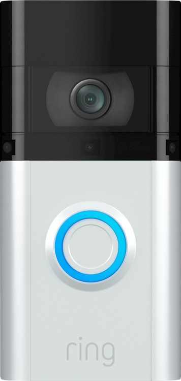 Ring - Video Doorbell 3 Plus - Satin Nickel