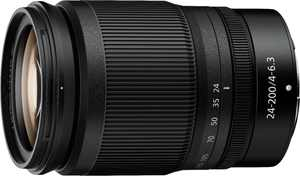 NIKKOR Z 24-200mm f/4-6.3 VR Telephoto Zoom Lens for Nikon Z Cameras - Black