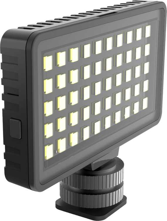 Digipower - Insta-Fame Dimmable 50 LED Super Bright Video Light with 3X Light Diffusers and Smartphone Mount