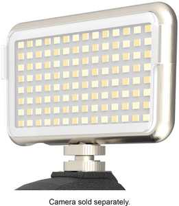 Digipower - The Streamer - 112 LED Rechargeable On Camera and Smartphone Compact Video Light 3100K-5500K - Silver