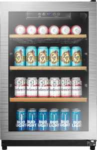 Insignia - 130-Can Beverage Cooler - Silver