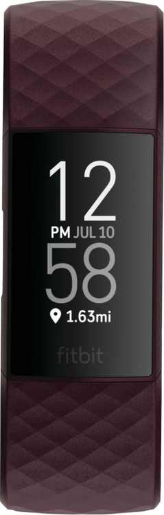 Fitbit - Charge 4 Activity Tracker GPS + Heart Rate - Rosewood