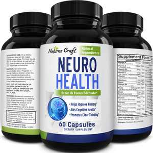 Natures Craft 60ct Mind & Memory Supplement for Enhanced Cognitive Function
