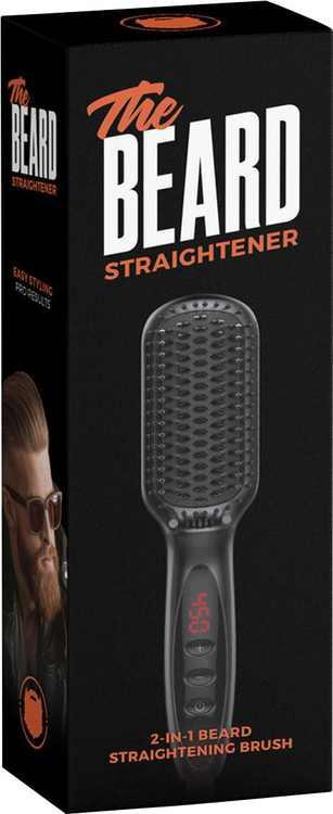 Wild Willies - 2-in-1 Beard Straightening Brush - Black