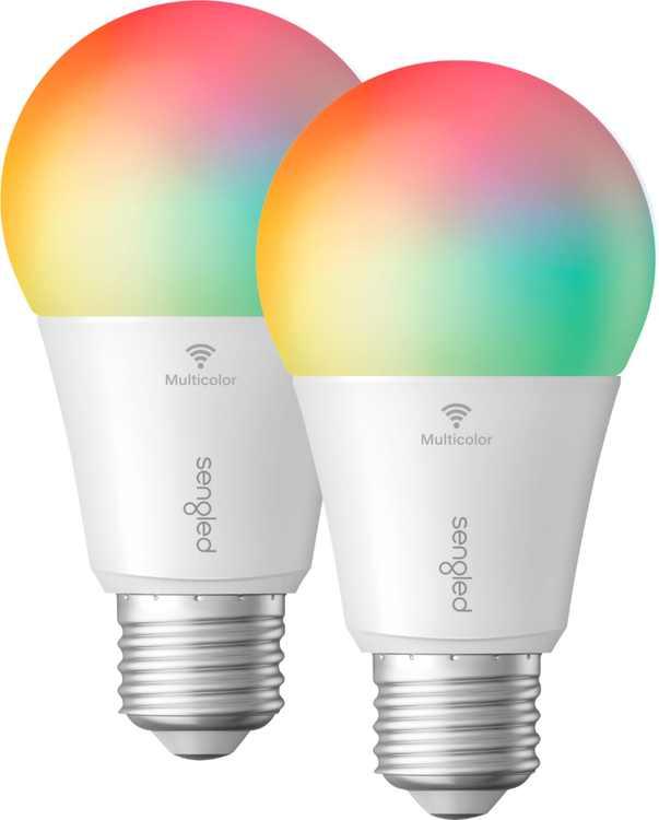 Sengled - Smart Wi-Fi LED A19 Bulb (2-Pack) - Multicolor
