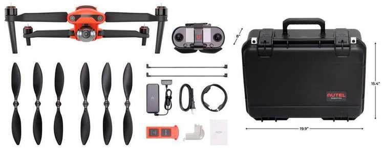 Autel Robotics - EVO II 8K Drone Rugged Bundle - Orange/Black