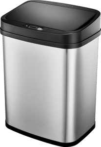 Insignia - 3 Gal. Automatic Trash Can - Stainless steel
