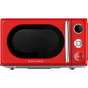 Galanz - Retro 0.7 Cu. Ft. Microwave - Hot Rod Red