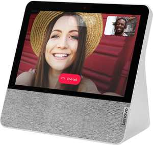 """Lenovo - 7"""" Smart Display with Google Assistant - Blizzard White"""