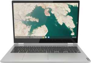"Lenovo - C340-15 2-in-1 15.6"" Touch-Screen Chromebook - Intel Core i3 - 4GB Memory - 64GB eMMC Flash Memory - Mineral Gray"