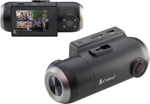 Cobra - SC 201 Dual-View Smart Dash Cam with Built-In Cabin View - Black