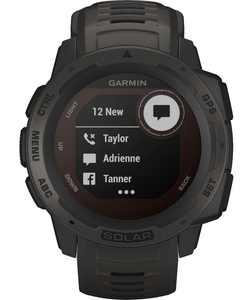 Garmin - Instinct Solar Rugged GPS Smartwatch 45mm Fiber-Reinforced Polymer - Graphite