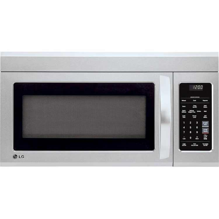 LG - 1.8 Cu. Ft. Over-the-Range Microwave with Sensor Cooking - PrintProof Stainless Steel