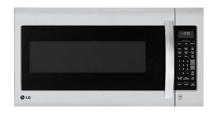 LG - 2.0 Cu. Ft. Over-the-Range Microwave with Sensor Cooking - Stainless steel