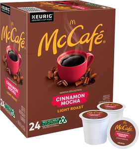 McCafe - Cinnamon Mocha, Single Serve Coffee Keurig K-Cup Pods, Flavored Coffee, 24 Count