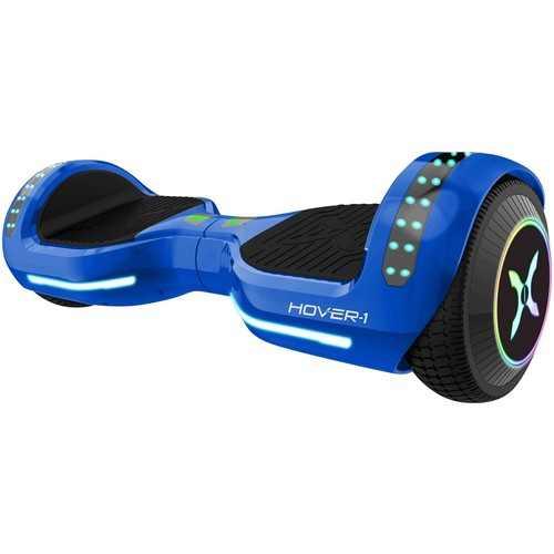 Hover-1 - Origin Self Balancing Scooter w/6 mi Max Operating Range & 7 mph Max Speed - Blue