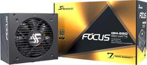 Seasonic - FOCUS GM-550, 550W 80+ Gold PSU, Semi-Modular, Fits ATX Systems, Fan Control in Silent & Cooling Mode, 7 Yr Warranty - Black