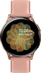 Samsung - Geek Squad Certified Refurbished Galaxy Watch Active2 Smartwatch 40mm Stainless Steel LTE (Unlocked) - Gold