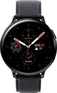 Samsung - Geek Squad Certified Refurbished Galaxy Watch Active2 Smartwatch 44mm Stainless Steel LTE (Unlocked) - Black