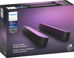 Philips - Geek Squad Certified Refurbished Hue Play White & Color Ambiance Smart LED Bar Light (2-Pack) - Multicolor