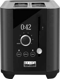 Bella Pro Series - 2-Slice Digital Touchscreen Toaster - Black Stainless Steel