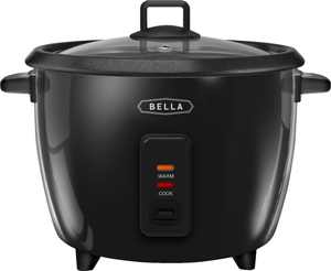 Bella - 16-Cup Manual Rice Cooker - Black