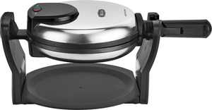 Bella - Non-Stick Rotating Belgian Waffle Maker - Stainless Steel