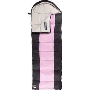 Wakeman - Adult Sleeping Bag with Hood - Pink And Black