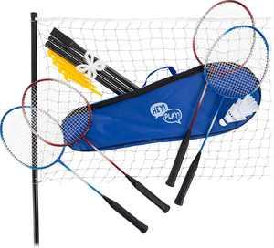 Hey! Play! - Outdoor Yard Game Badminton Set - Blue