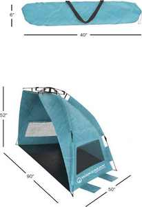 Wakeman - Portable Pop Up Sun Shelter w/floor - Turquoise