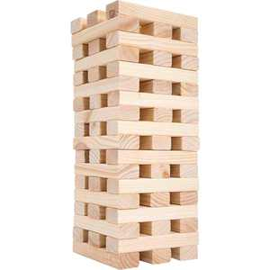 Hey! Play! - Nontraditional Giant Wooden Blocks Tower Stacking Game