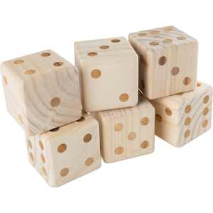 Wakeman - Giant Wooden Yard Dice Outdoor Lawn Game
