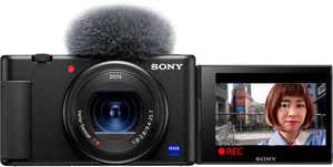 Sony - ZV-1 20.1-Megapixel Digital Camera for Content Creators and Vloggers - Black