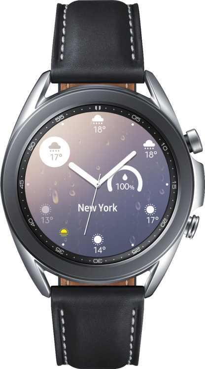 Samsung - Galaxy Watch3 Smartwatch 41mm Stainless BT - Mystic Silver