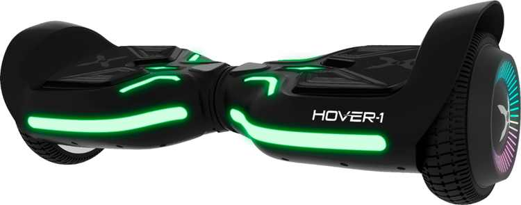 Hover-1 - Superfly Electric Self-Balancing Scooter w/6 mi Max Range & 7 mph Max Speed- Premium Bluetooth Speaker - Black