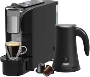 Bella Pro Series - Capsule Coffee Maker and Milk Frother - Black