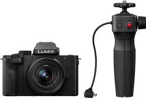 Panasonic - LUMIX G100 Mirrorless Camera for Photo, 4K Video and Vlogging, 12-32mm Lens, Tripod Grip Bundle – Black - Black