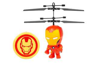 World Tech Toys - Marvel 3.5 Inch Iron Man Flying Figure IR Helicopter - Multi
