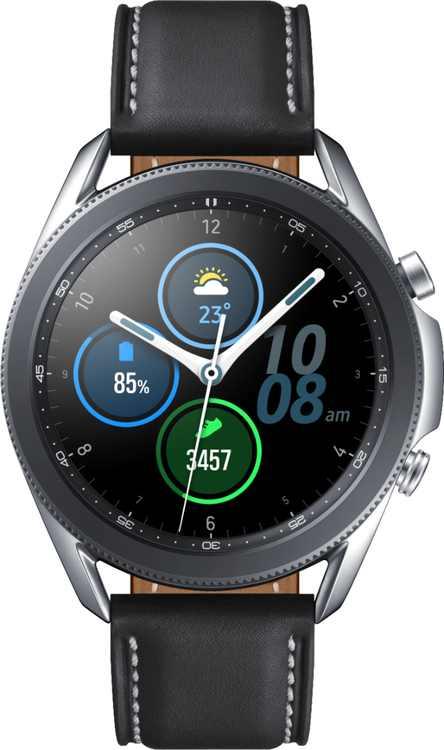 Samsung - Galaxy Watch3 Smartwatch 45mm Stainless BT - Mystic Silver
