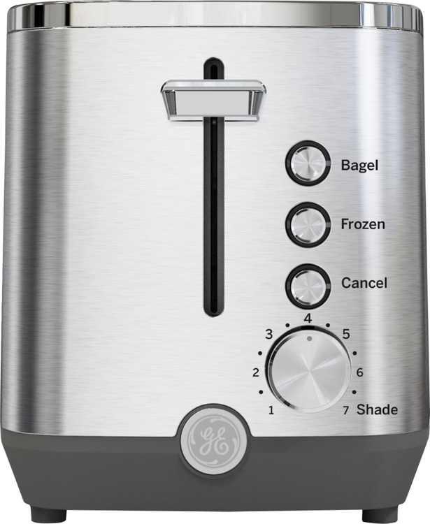GE - 2-Slice Toaster - Stainless Steel
