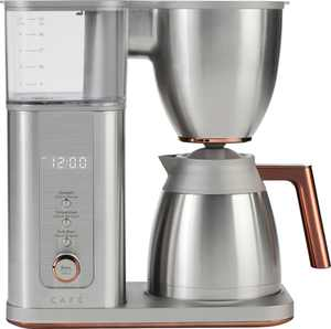 Café - Drip 10-Cup Coffee Maker with WiFi - Brushed Stainless