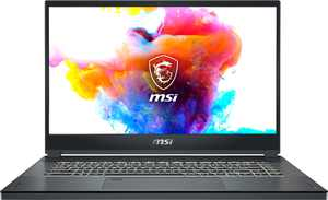 "MSI - Creator15 15.6"" Gaming Laptop - Intel Core i7 - 16GB Memory - NVIDIA GeForce RTX 2060 - 512GBSolid State Drive - Space Gray with Silver Diamond cut"