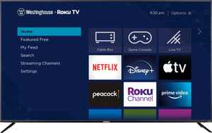 "Westinghouse - 75"" Class LED 4K UHD Smart Roku TV"