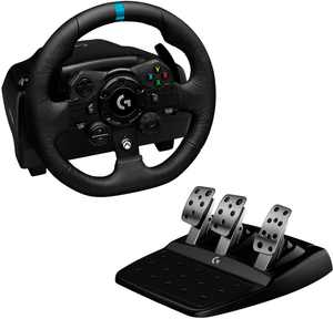 Logitech - G923 Racing Wheel and Pedals for Xbox Series X|S, Xbox One and PC - Black