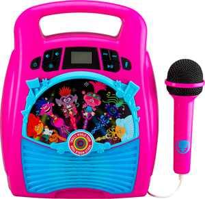 eKids - Trolls World Tour Bluetooth MP3 Karaoke - pink