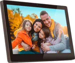 "Aluratek - 11.6"" Wi-Fi Photo Frame with Live Video Chat and 16GB Memory - Black"